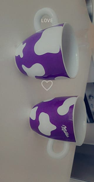 juego de tazas milka