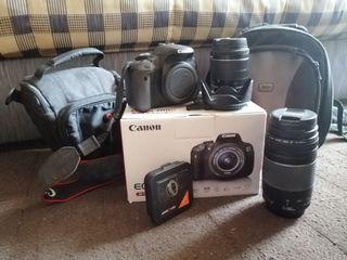 Canon 700D + Objetivo 18-55 + Objetivo 75-300