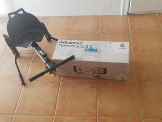 Hoverboard personalizado del real madrid + silla