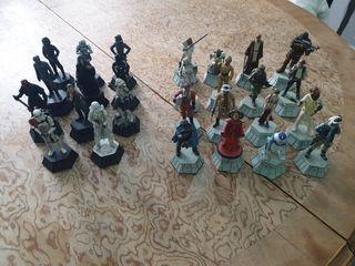 27 figuras star wars ajedrez plomo lucasfilm 2010