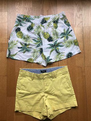 2 pantalones cortos 8€