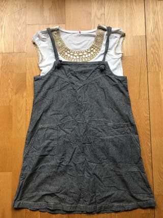 Conjunto vestido + camiseta