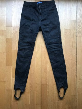 Pantalón vaquero negro elástico