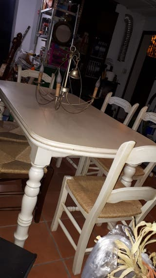 Mesa de comedor extensible +Sillas+ Lámpara REGALO