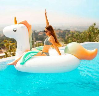 Flotador de Unicornio Gigante - Marca Flamingueo