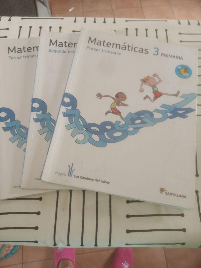 Libros de matemáticas de 3 de primaria.