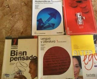Vendo libros 1 bachillerato