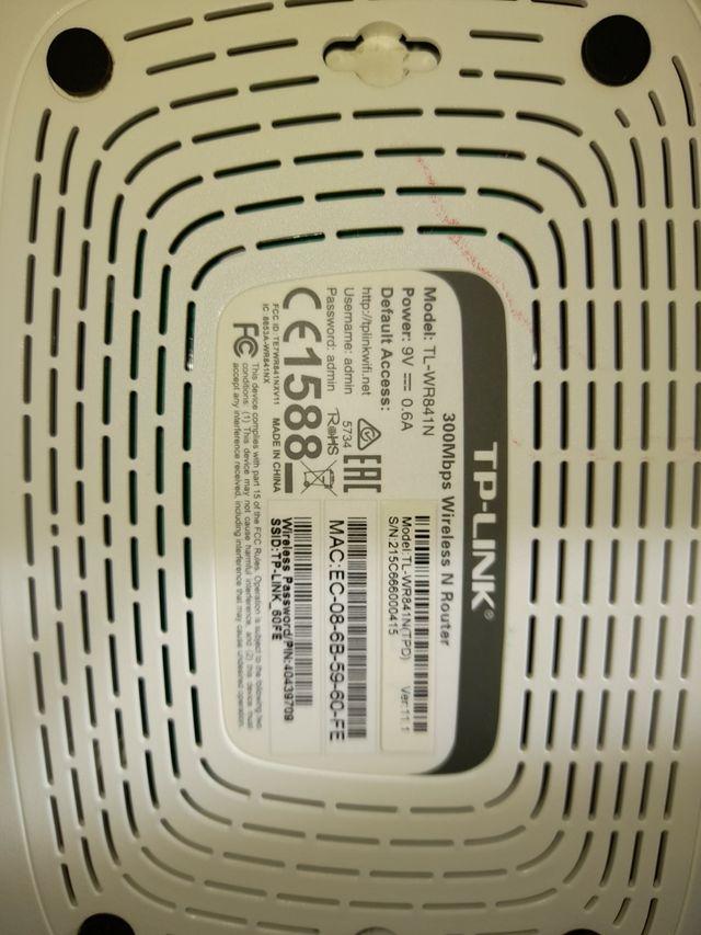 Router TP-LINK 300 Mbps de velocidad