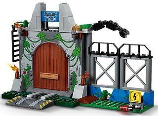 Lego Jurassic World Puerta entrada parque