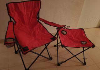 mesa y silla camping