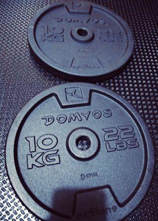 Par de discos gimnasio 10 kilos