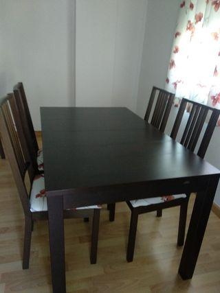 Mesa de Salón ikea con 6 sillas