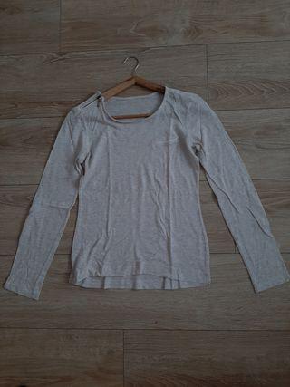 Camiseta beige de manga larga