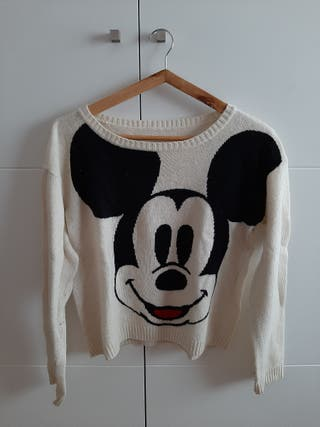 Jersey blanco y negro Mickey Mouse