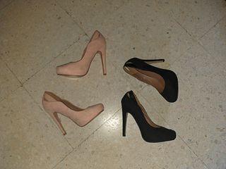 Zapatos Tacón Negros y Beig (2×1)