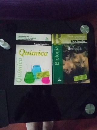 libros química y biología PAU25
