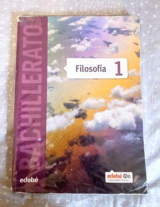 Libro de texto, filosofía 1°Bach, Edit edebé