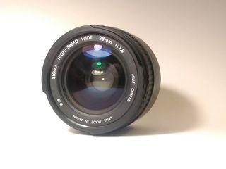 Objetivo Sigma 28 mm a 1.8 f objetivo nikon nikkor