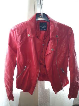 Cazadora Biker roja