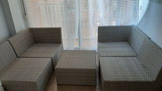 Conjunto de 5 muebles de jardín
