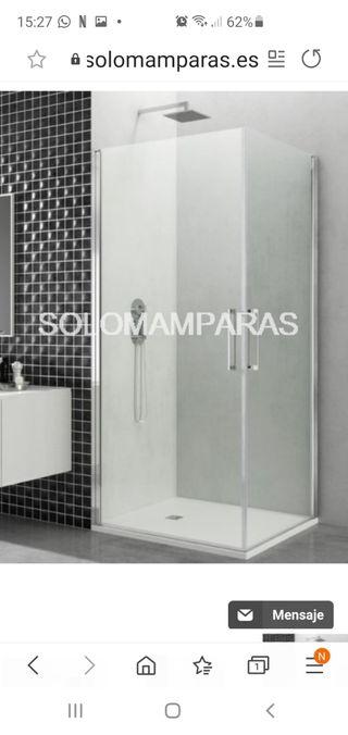 Mampara cristal baño nueva