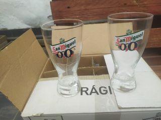 Vasos de cristal nuevos