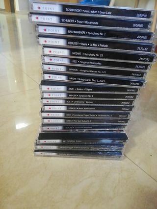 Colección de CDs de obras clásicas.