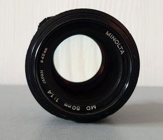 Objetivo MINOLTA MD 50mm f/1.4