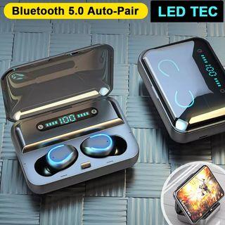 auriculares Bluetooth mini pantalla led auriculare