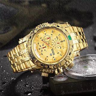 creative golden men relojes de pulsera de cuarzo p