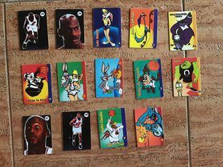 Cromo/tarjeta dura de space jam años 90