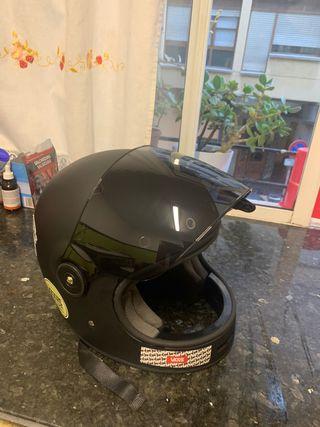 Casco moto café racer shiro