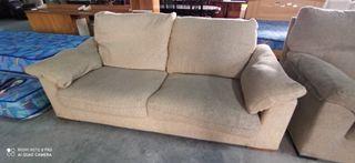sofá 3 plazas beige