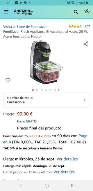ENVASADORA AL VACIO FOODSAVER FFS010X
