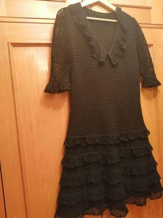 vestido de ganchillo vintage