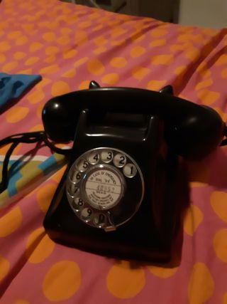 Telefono antiguo ingles años 50s de baquelita