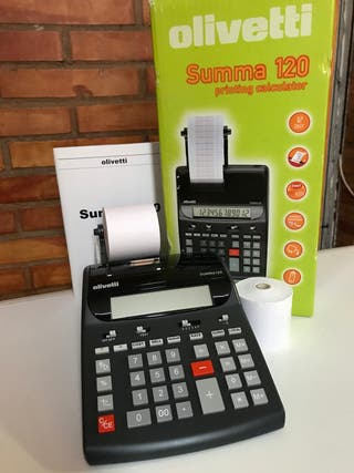 Calculadora con ticket nueva Olivetti summa 120