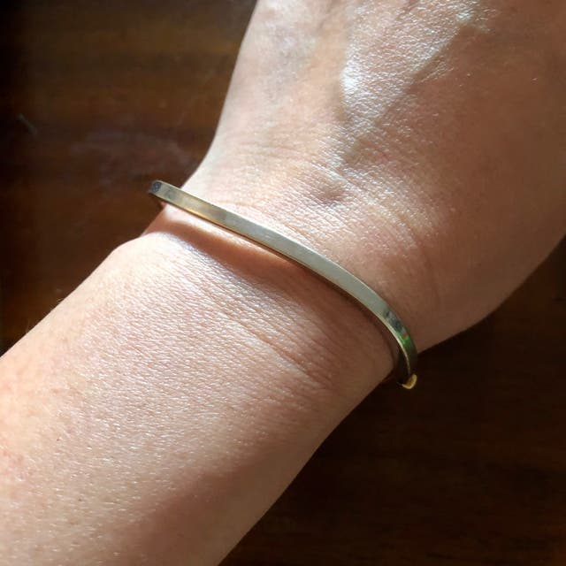 18ct White & Yellow Gold Minimalist Bangle