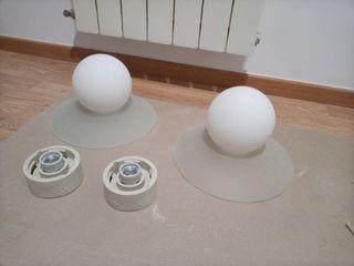 2 Lámparas techo esféricas