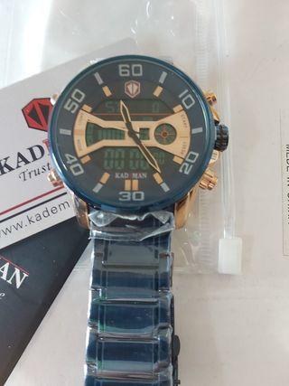 reloj correa azul acero pedazo de reloj