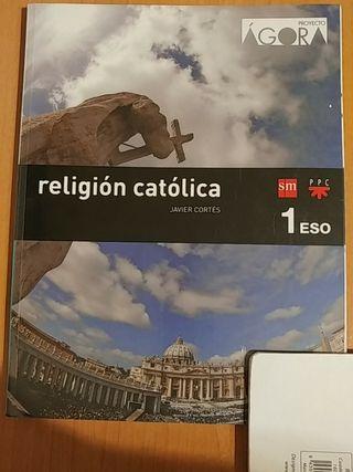 Libro religión catolica primero 1 ESO de SM