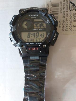 reloj correa acero negra