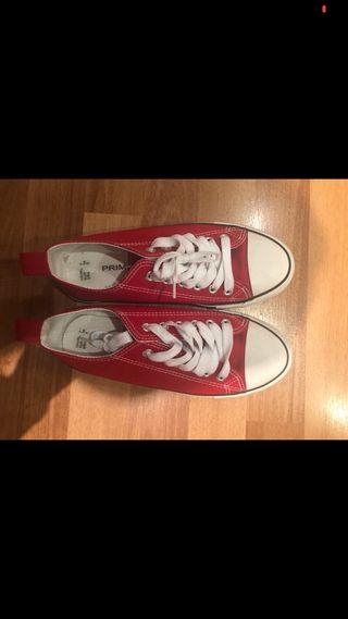 Zapatillas primark rojo