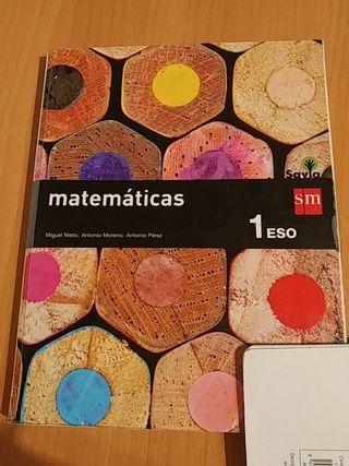 Libro matematicas primero 1 ESO.