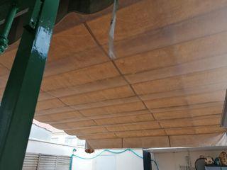 toldo corredero con estructura de aluminio