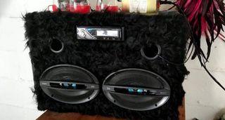 radio panasonic y regalo altavoces