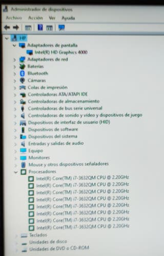 PC portátil HP actualizado i7 8GB 120SSD
