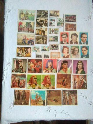 lote de cromos antiguos de varias colecciones