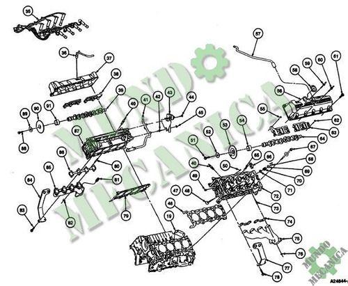Manual Reparacion Motor 4.6 3.8L Ford Cougar 1988-