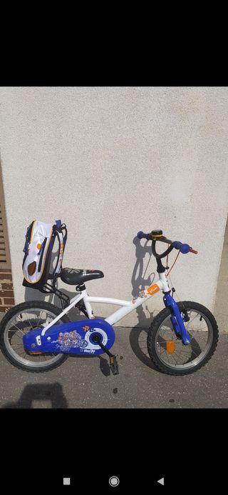 Bici infantil Btwin 16 pulgadas casco de regalo